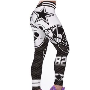 Brand new cowboys Leggings white and black